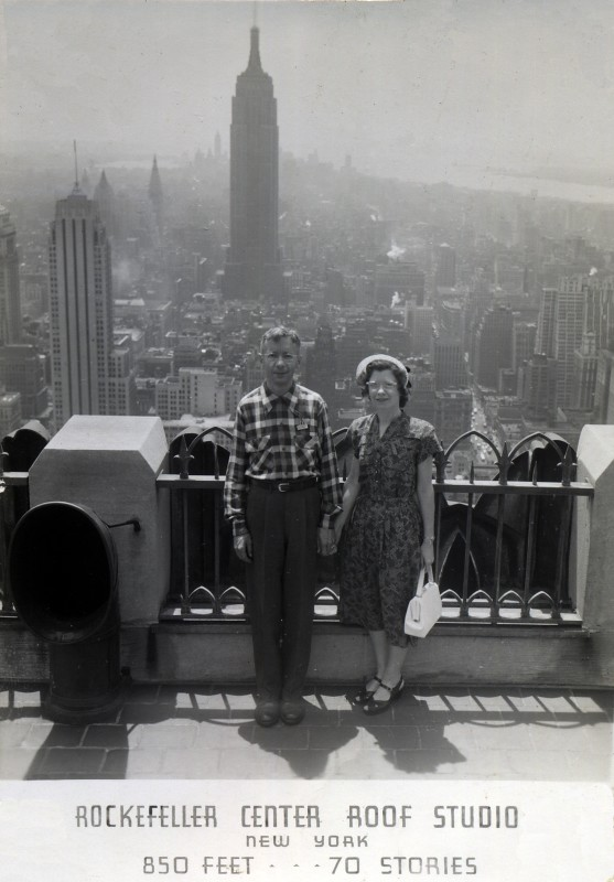 Man and Woman at the Rockefeller Center Roof Studio, New Y… | Flickr