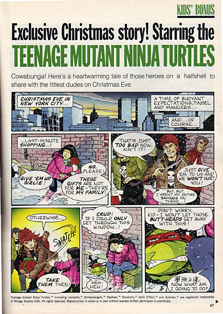 """Ladies Home Journal :: """"The TEENAGE MUTANT NINJA TURTLES in 'Twas the FIGHT before Christmas' // pg. 67 (( December 1990 )) by tOkKa"""