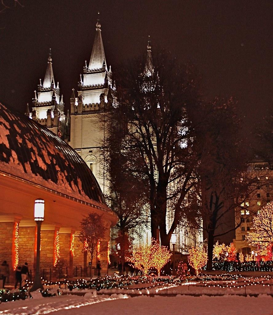 Temple Square Salt Lake City Christmas Lights.Christmas Lights Temple Square Salt Lake City Ut Flickr
