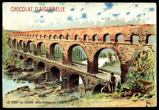 French Tradecard - Pont du Gard