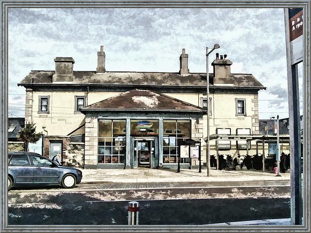 fotopainting Greystones station in 2011