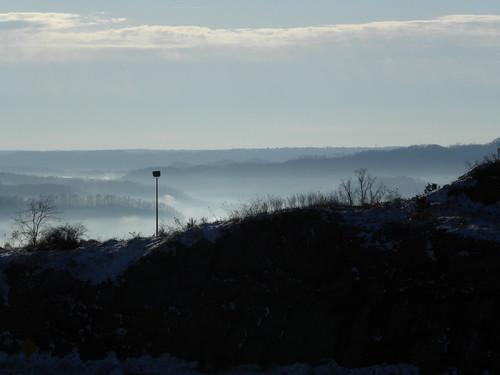 morning snow mountains kentucky highway23