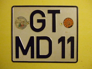 GERMANY 2001 ---GUTERSLOH MOTORCYCLE PLATE #GT MD11