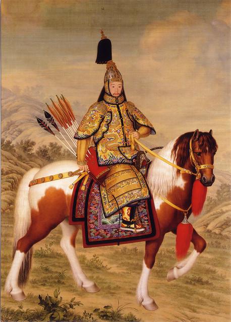 Giuseppe Castiglione 郎世寧 「儀礼用甲冑を着けた乾隆帝(乾隆帝太閤像)」 (1739年か1758年)