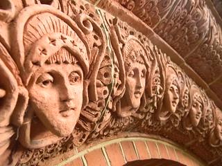 Doorway faces Wanborough to Godalming Watts Chapel