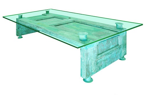 CFM Patinaed Copper Door table by Phil Manker | by Phil Manker