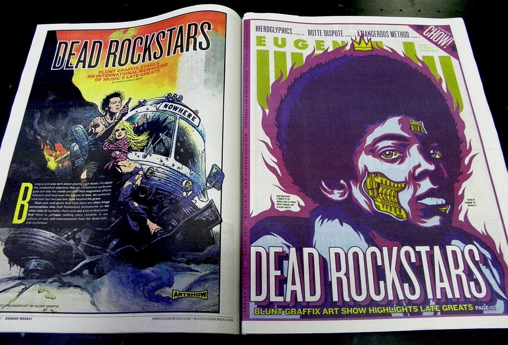 Blunt Graffix - Eugene Weekly - DEAD ROCKSTARS Lead Story