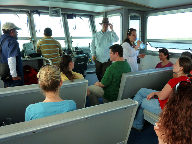 On the boat to BCI