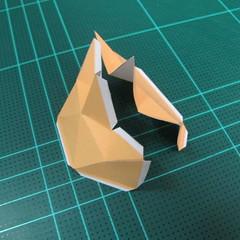 วิธีทำโมเดลกระดาษตุ้กตาสัตว์เลี้ยง หยดทองจากเกมส์ คุกกี้รัน (LINE Cookie Run Gold Drop Papercraft Model - クッキーラン  「黄金ドロップ」 ペーパークラフト) 009