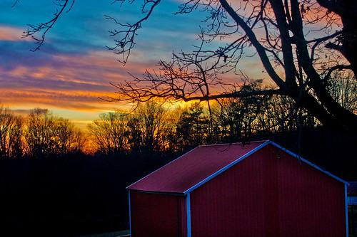 sunset sky silhouette georgia dawsonville dawsoncounty thesussman sonyalphadslra550 project36612011