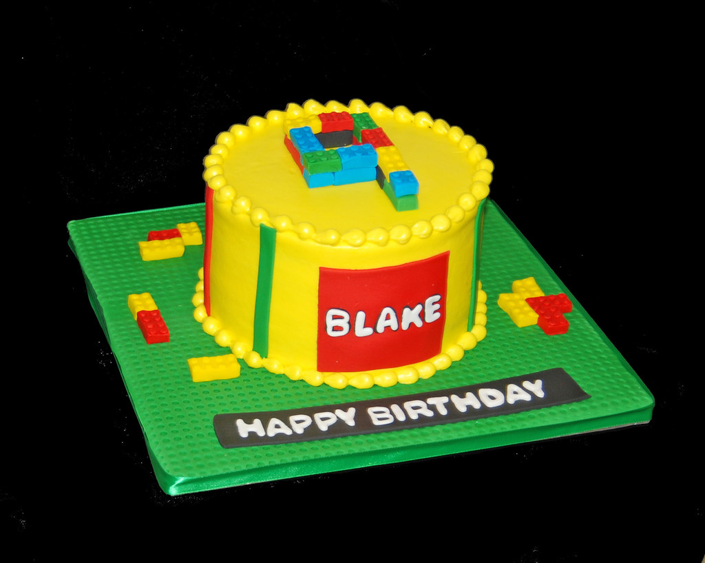 Marvelous 9Th Birthday Cake For A Lego Themed Birthday Party Flickr Funny Birthday Cards Online Fluifree Goldxyz