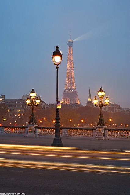 Pont Alexandre III & Tour Eiffel -  Paris