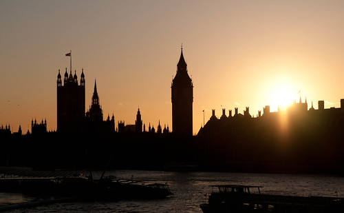 Silhouette of big pointy thing a.k.a. Big Ben | by It's life Jim....