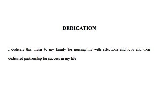 Best dissertation dedications