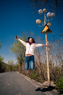 Road goes down, I go up - May 2011   by Akira2506