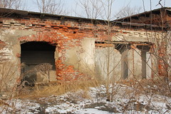 Old meat packing plant , Nysa 27.01.2012
