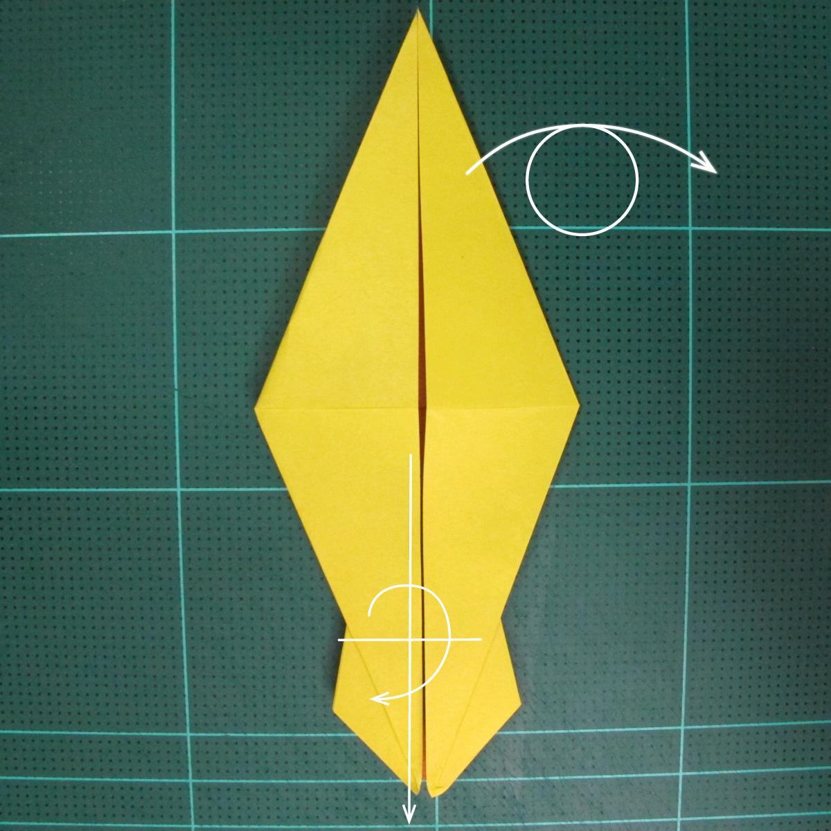 วิธีพับกระดาษเป็นรูปนกยูง (Origami Peacock - ピーコックの折り紙) 020