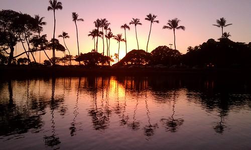 Magic Island Pond sunset | by madmarv00