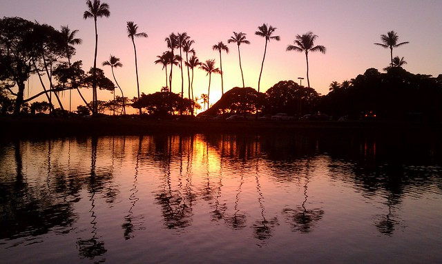 Magic Island Pond sunset