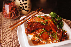 General Tso's Braised + Glazed Spare Ribs