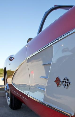 auto show red chevrolet car texas katy chevy after hours past corvette blast vette 59 1959