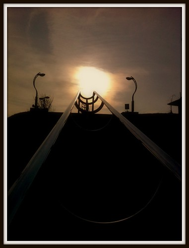sunset sky sun nature