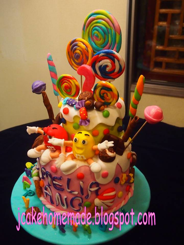 Admirable Candy Birthday Cake Happy 2Nd Birthday Amelia Ang Thanks Flickr Birthday Cards Printable Opercafe Filternl