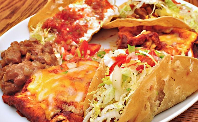 Mmm... tacos, enchiladas, refried beans