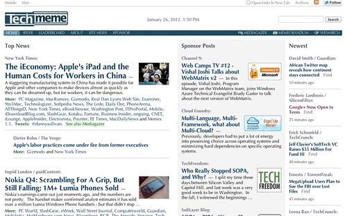 looks like @techmeme just got a new design: | by fredericl