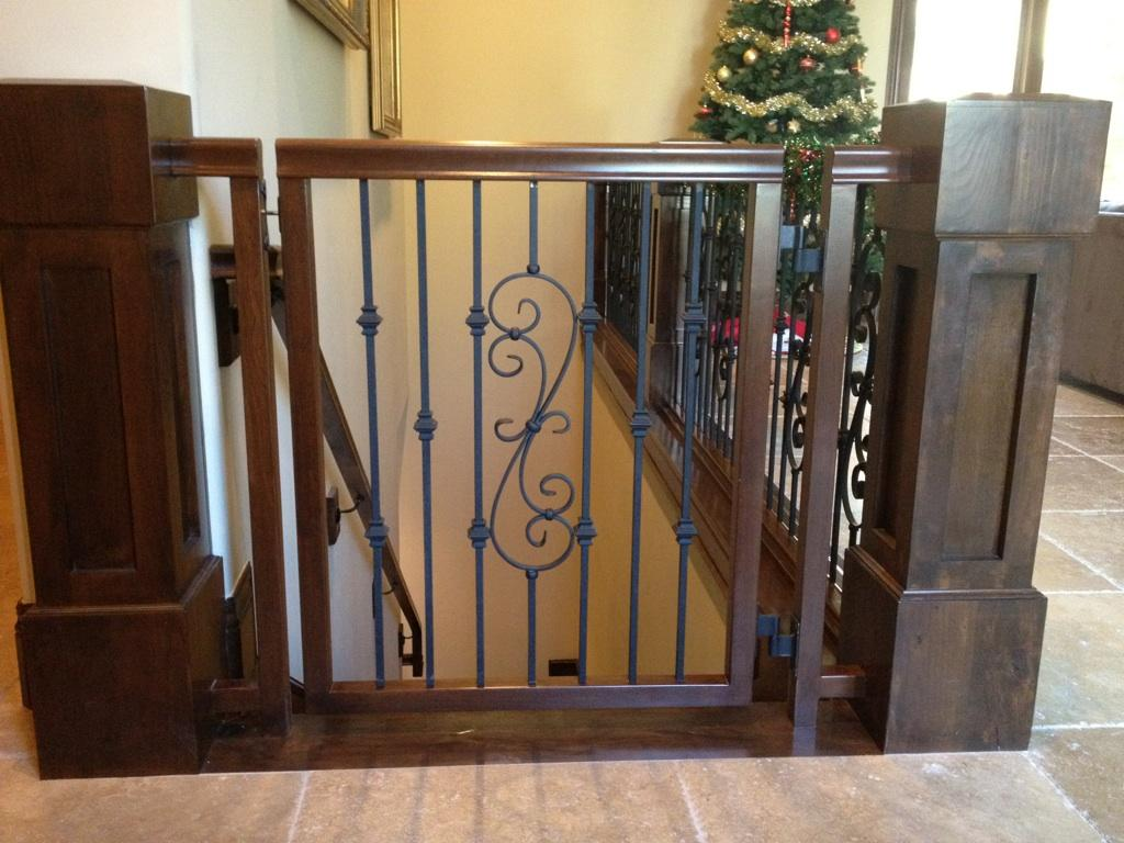 Charmant Custom Wood And Iron Baby Gate | JD Stairs | Flickr