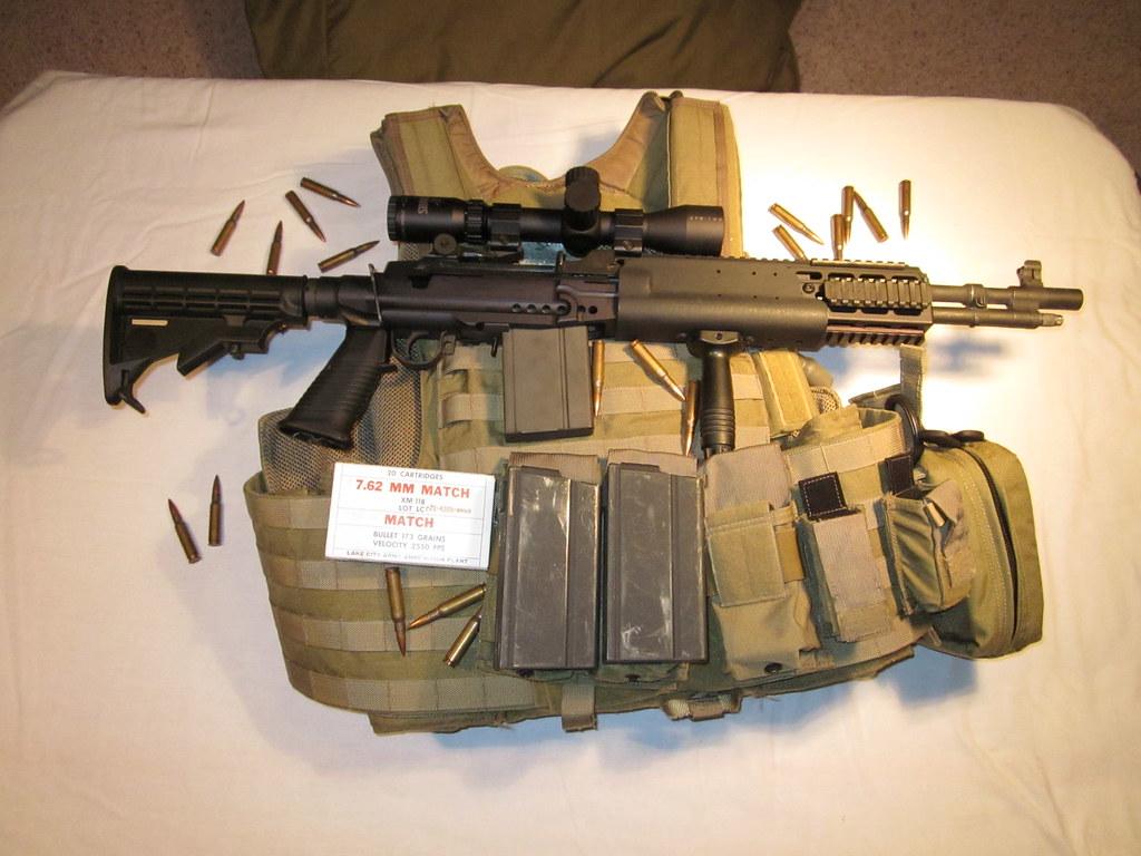 Springfield M1A Socom in Sage EBR Stock - $2,200