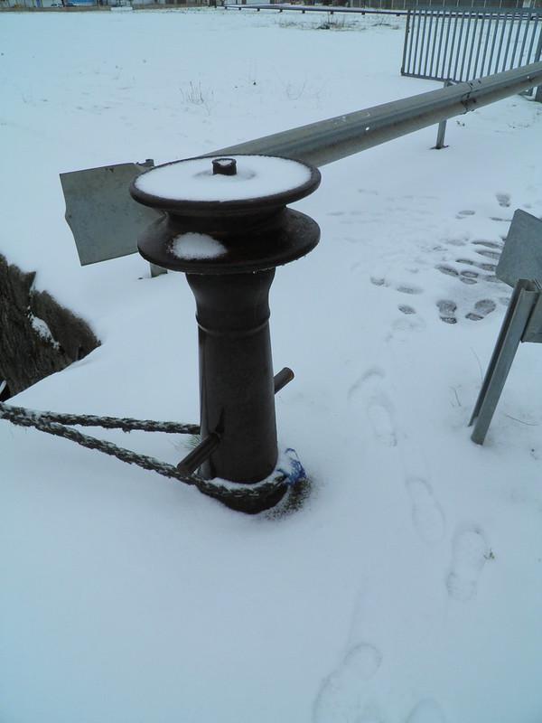 Accostage - Bordeaux sous la neige - 05 février 2012
