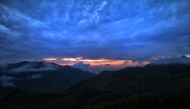 Dusk in the Anji Mountain