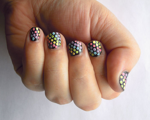 Pastel dotted nail art | by Kira83
