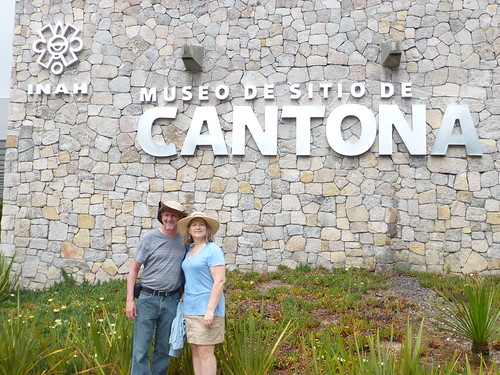 . At the archeological site of Cantona