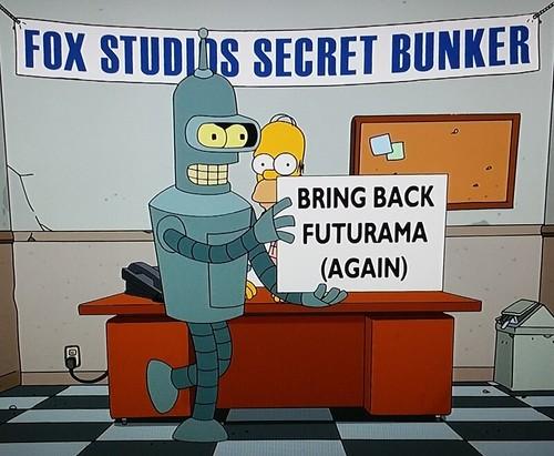 Bender cameo in Simprovised s27e21