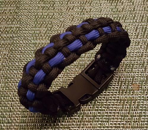 Thin Blue Line Police Paracord Bracelet