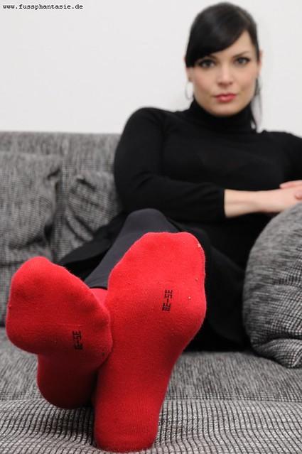 Woman worship femdom socks