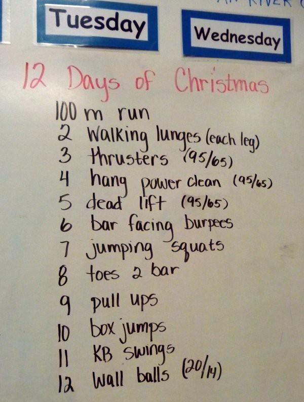 12 Days Of Christmas Wod.12 Days Of Christmas Wod Hollywouldifshecould Flickr