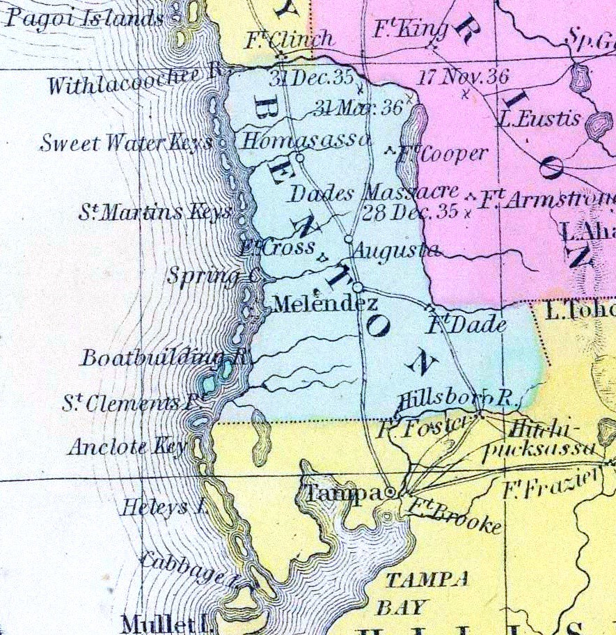 Detail Map Of Florida.1853 Map Detail From An Early Map Of Florida By Thomas Co Flickr