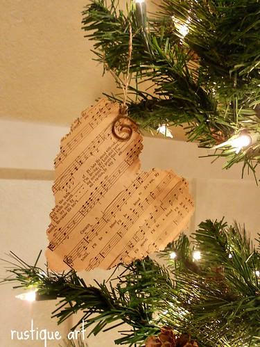 sheet music heart ornament | by rustiqueart