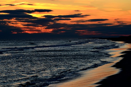 sunset usa newyork color beach fun nikon longisland blinkagain nikond5100seaatlanticoceanwaves