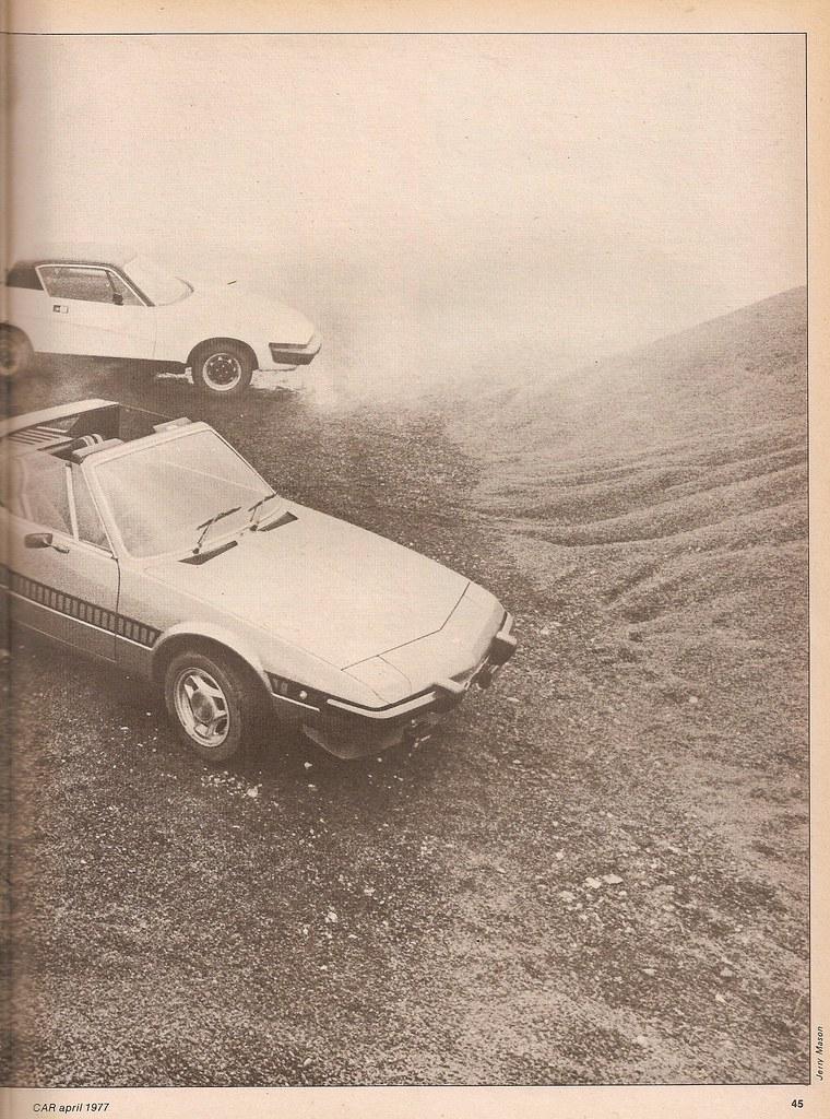Fiat X19 Triumph Tr7 Twin Road Test 1977 Flickr