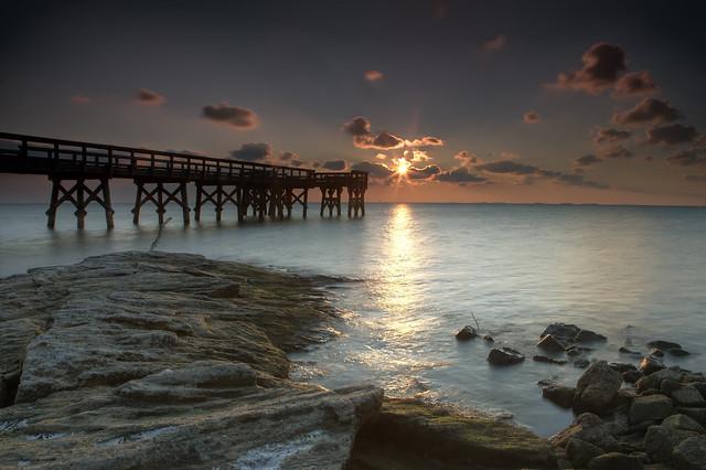 sunrise at low tide