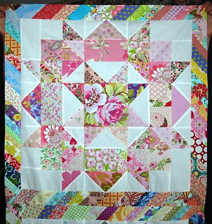 Sashing the Pink Swoon Block