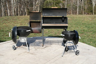 Charcoal Grills and Smoker | by Anson Kennedy