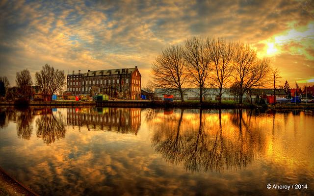 Hoogkerk Sunset,Groningen stad,the Netherlands,Europe