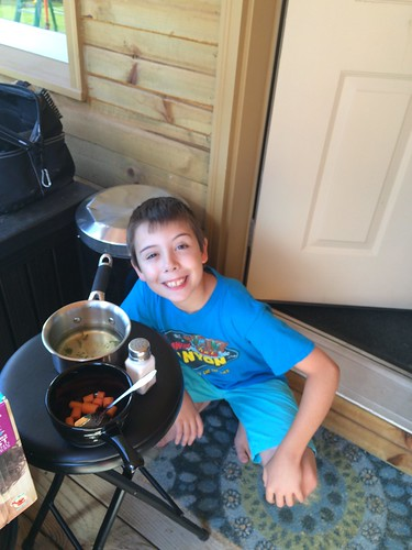 Keenan's first batch of steamed carrots | by Julie, Eric, Keenan & Avery