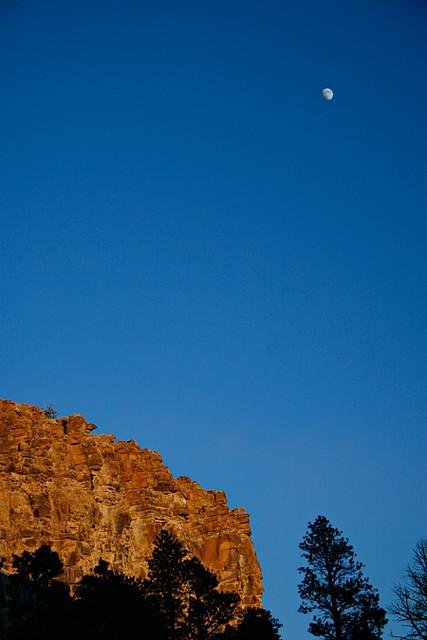 Moon and Cliff, Velvet Ridge, December 2011