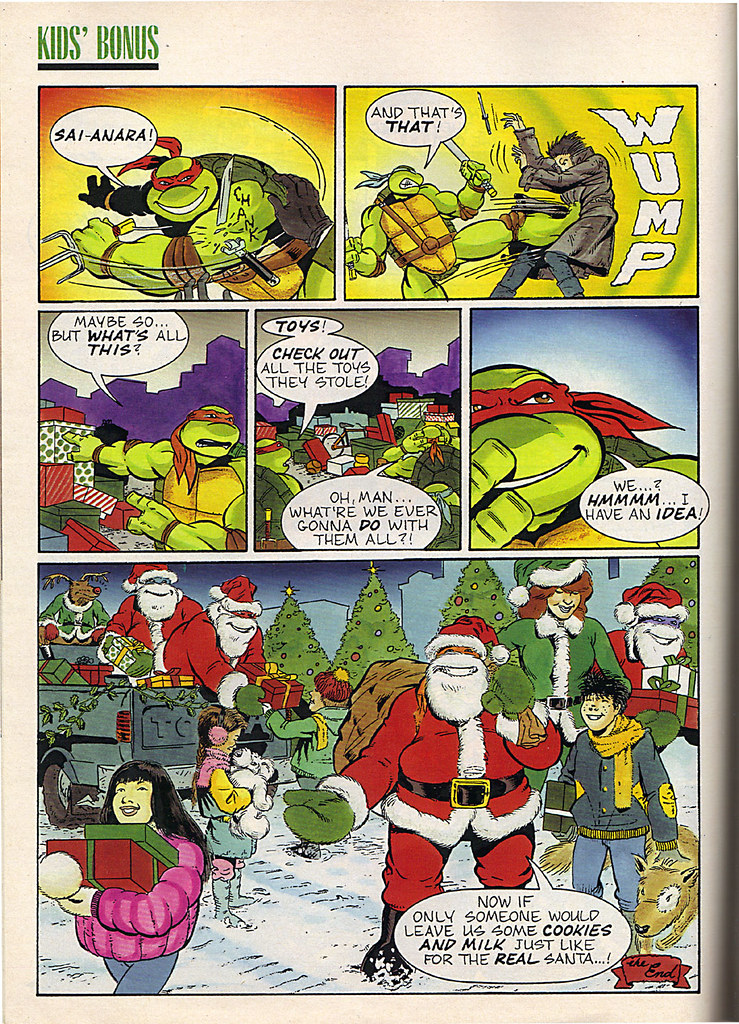 "Ladies Home Journal :: ""The TEENAGE MUTANT NINJA TURTLES in 'Twas the FIGHT before Christmas' // pg. 70 (( December 1990 )) by tOkKa"